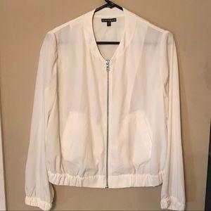 Express silk bomber jacket
